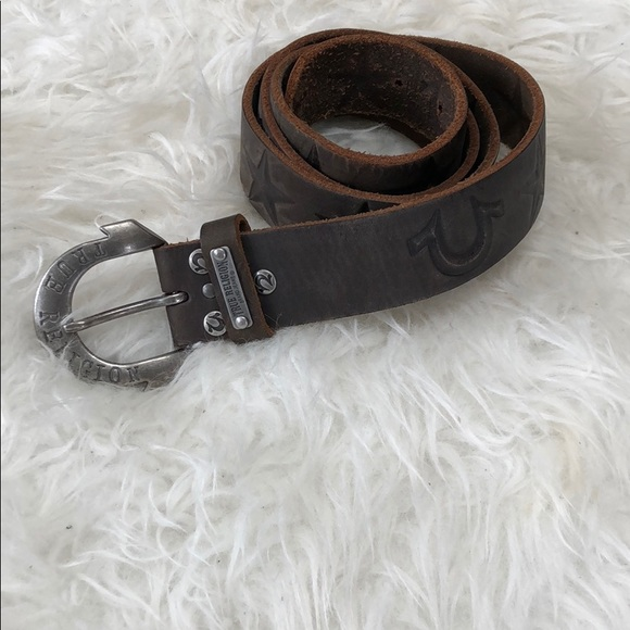 2f5014c30 Men s True Religion horseshoe buckle belt. Sz 34. M 5ae72d1c8af1c577f399cfe9